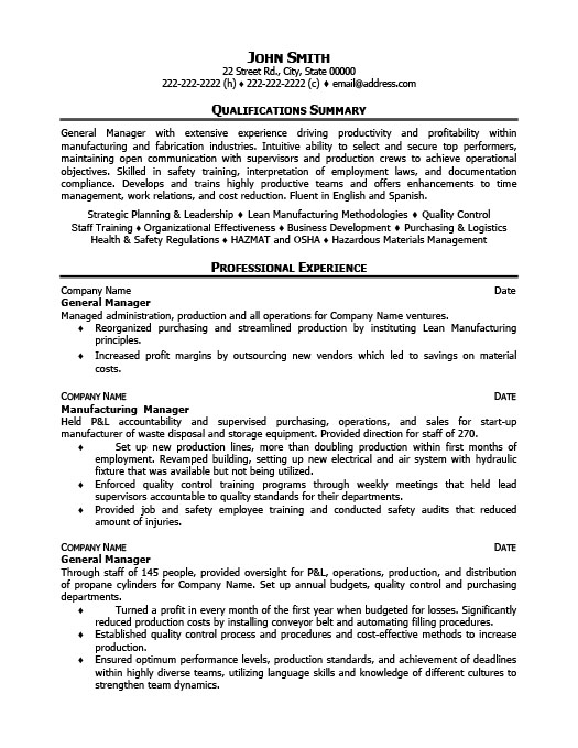 General Operations Manager Resume Template Premium Resume Samples - audit operation manager resume