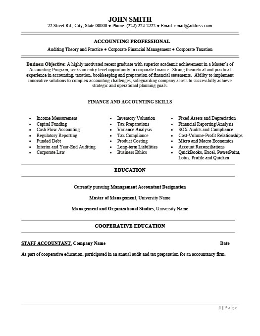 Financial Accountant Resume Template Premium Resume Samples  Example - Fixed Asset Accountant Sample Resume