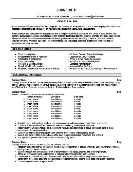 Licensed Realtor Resume Template Premium Resume Samples  Example - Realtor Resume
