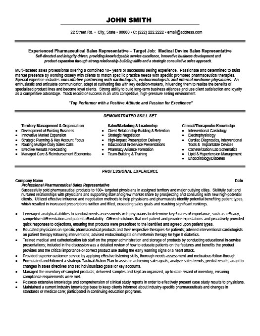 Sales Representative Resume Template Premium Resume Samples  Example - sales representative resume templates