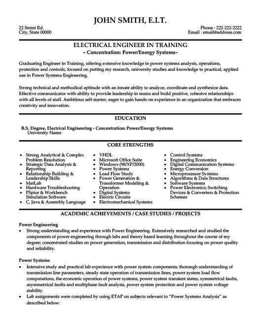 Electrical Engineer Resume Template Premium Resume Samples  Example - electrical engineering resume sample