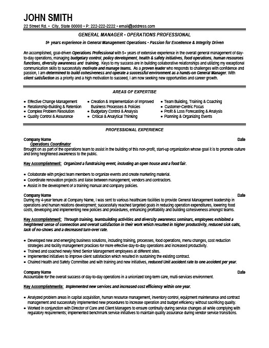 General Manager Resume Template Premium Resume Samples  Example