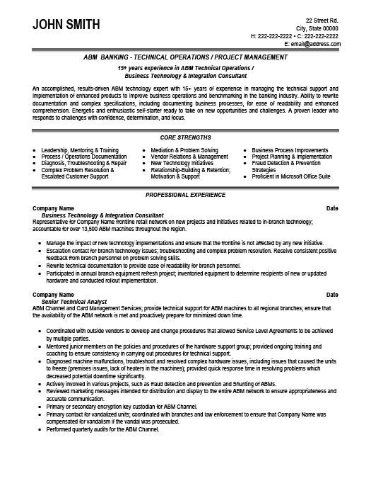 Technical Operator Resume Template Premium Resume Samples  Example