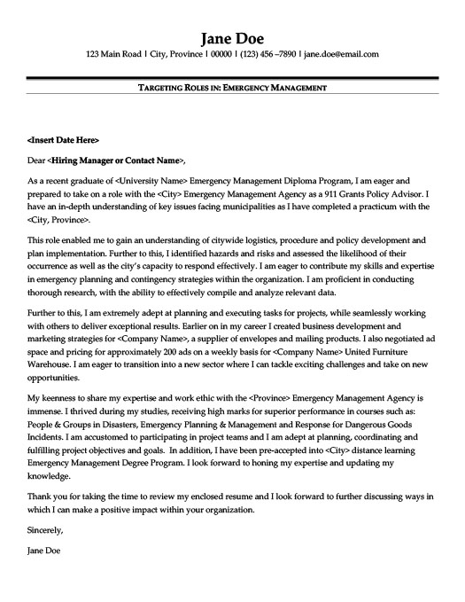 Emergency Management Resume Template Premium Resume Samples  Example