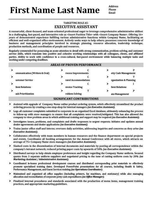 Executive Assistant - Office Manager Resume Template Premium - administrative assistant office resume