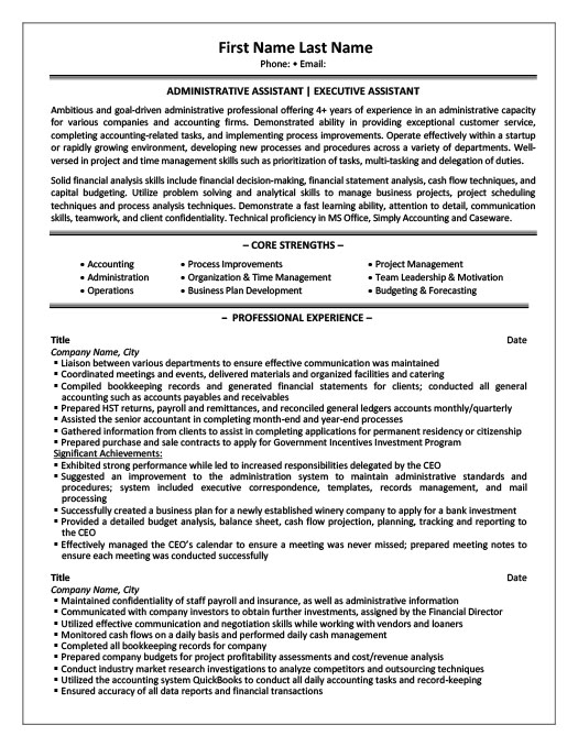 Executive Assistant - Office Manager Resume Template Premium