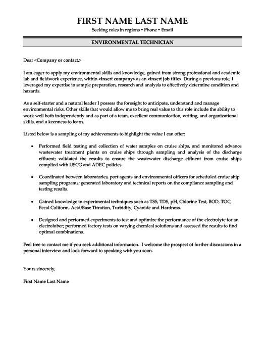 Environmental Technician Resume Template Premium Resume Samples - environmental officer sample resume