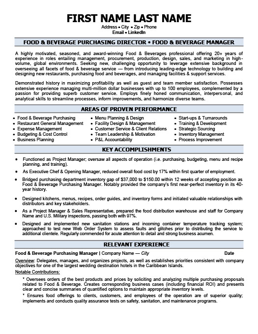 State of Texas Assessments of Academic Readiness (STAARTM resume - Food And Beverage Attendant Sample Resume