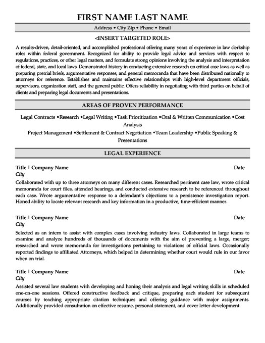 Law Resume Templates, Samples  Examples Resume Templates 101 - legal resume templates