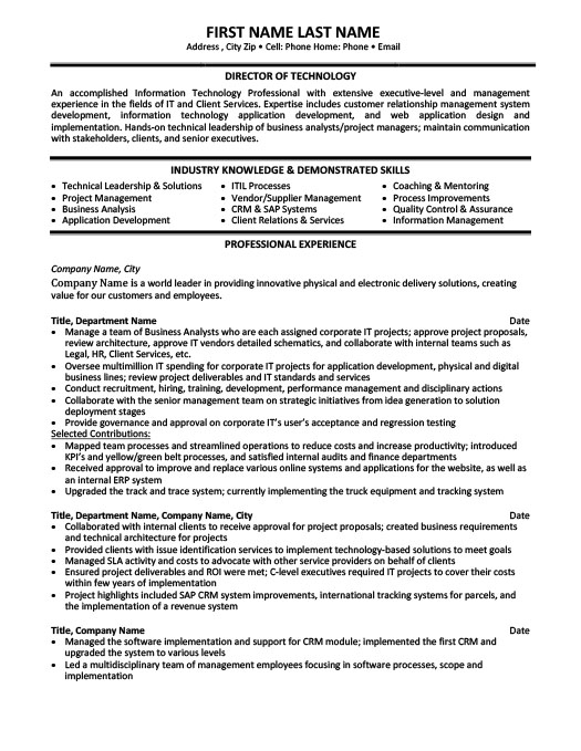 Executive-Level Manager Resume Template Premium Resume Samples