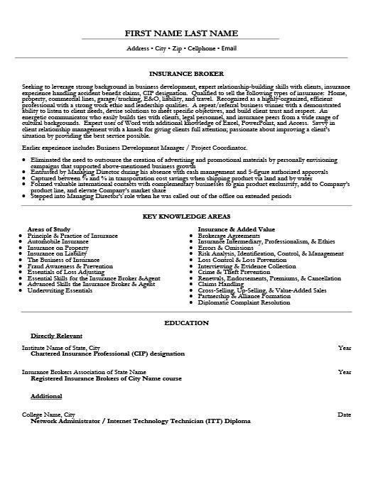 Insurance Agent Resume Objective