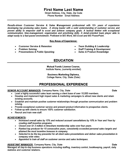 Senior Account Manager Resume Template Premium Resume Samples