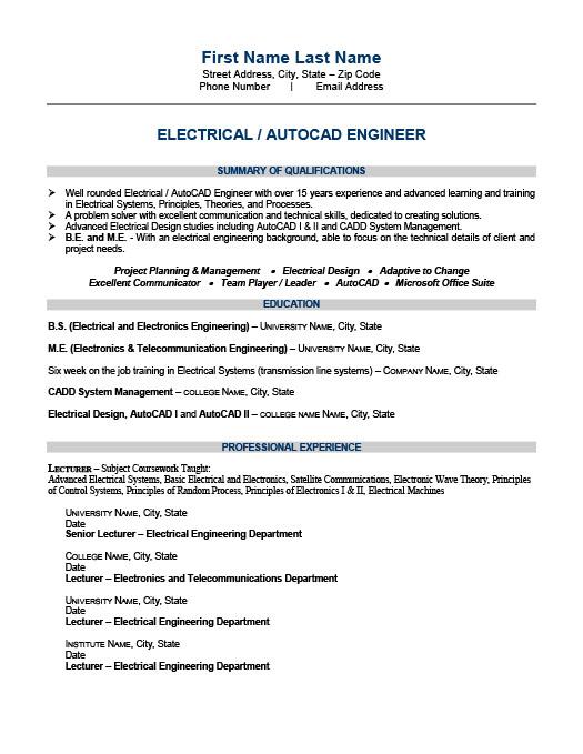 Electrical Engineer Resume Template Premium Resume Samples  Example - senior electrical engineer resumes
