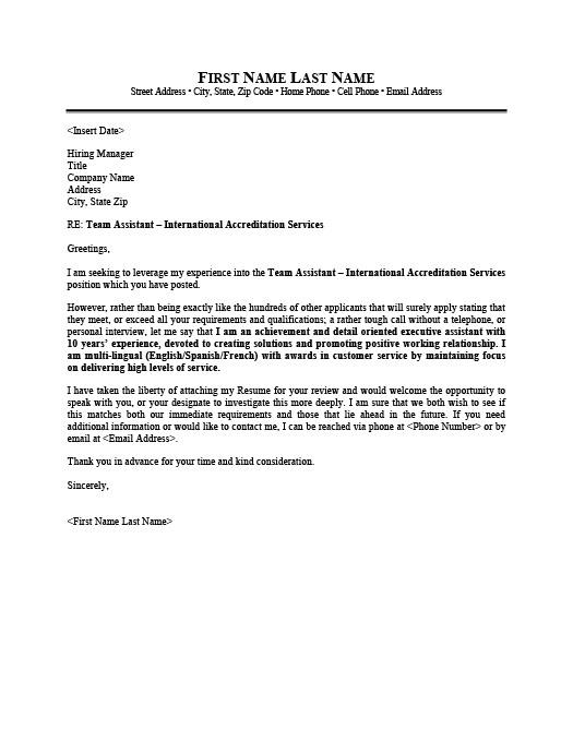 Consular or Administrative Assistant Resume Template Premium