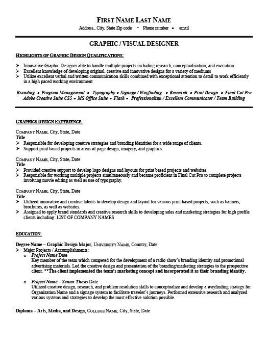 Graphic Designer Resume Template Premium Resume Samples  Example