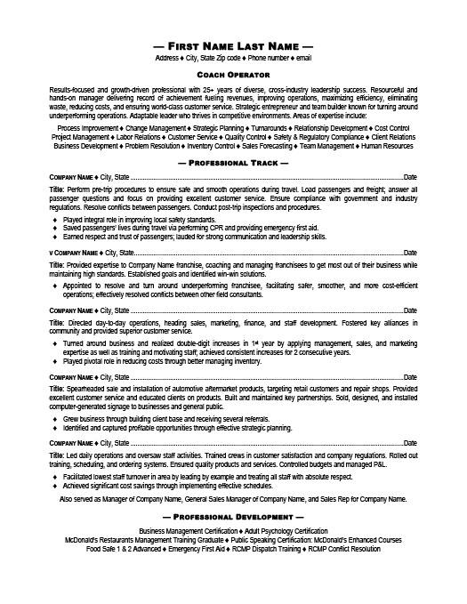 Transportation Resume Templates, Samples  Examples Resume