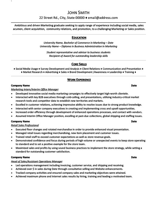 Marketing Intern Resume Template Premium Resume Samples  Example - marketing internship resume
