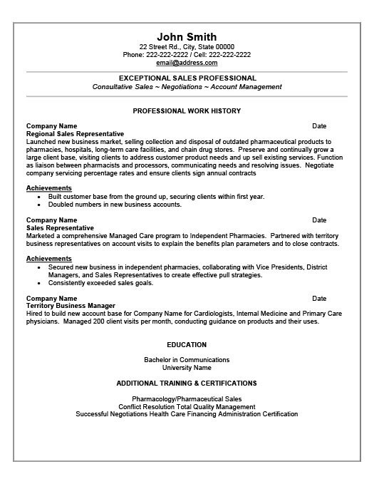 Sales Professional Resume Template Premium Resume Samples  Example - sales agent contracts