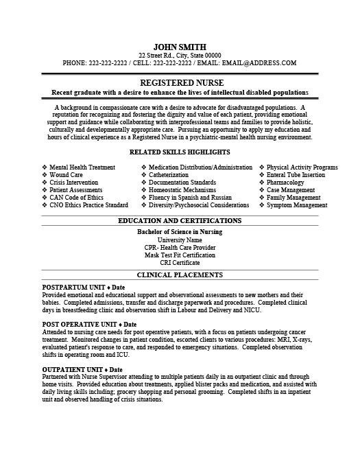 Registered Nurse Resume Template Premium Resume Samples  Example