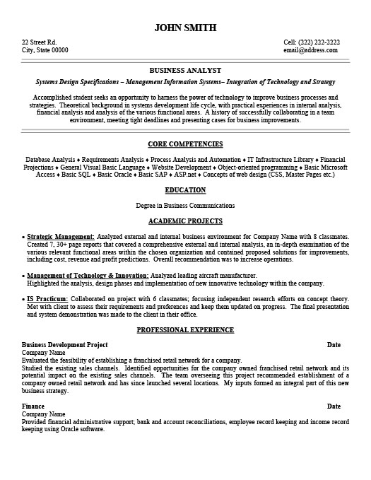Business Analyst Resume Template Premium Resume Samples  Example