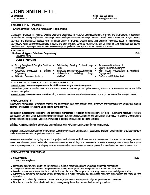 Engineering Professional Resume Template Premium Resume Samples