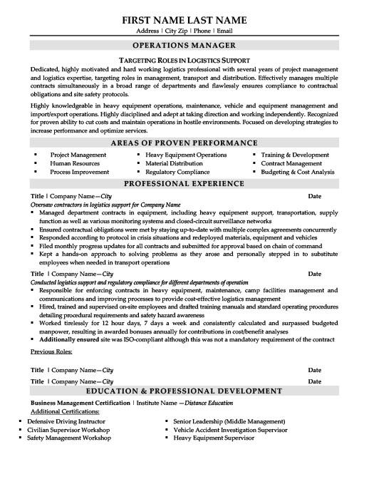 Transportation  Logistics Specialist Resume Template Premium - transportation specialist sample resume