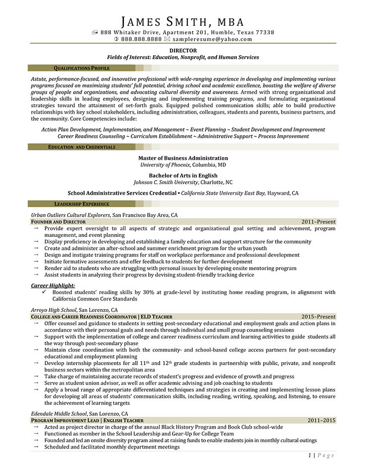 Sample Civilian and Federal Resumes - Resume Valley - program administrator sample resume