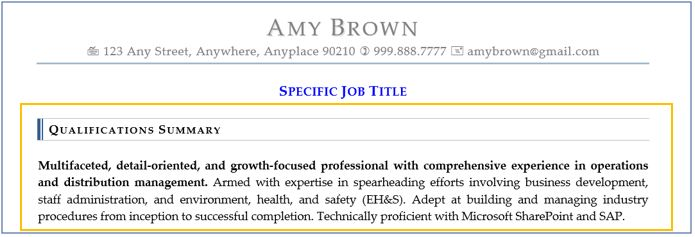 Resume Sections Best Ways to Optimize Qualifications and Skills