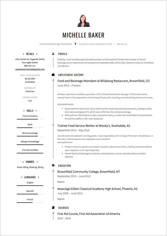 food salesman resume sample