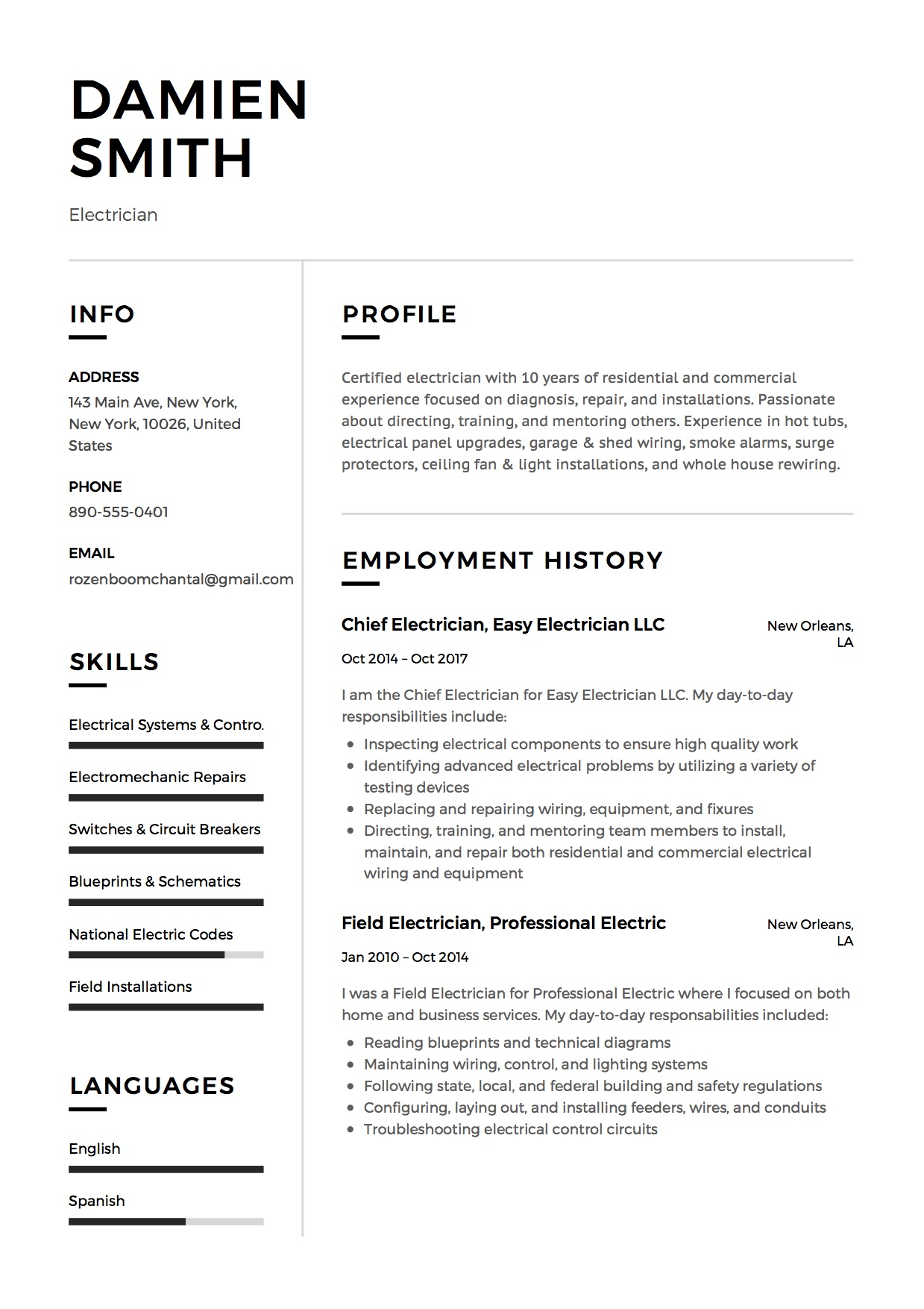 cv type commercial free