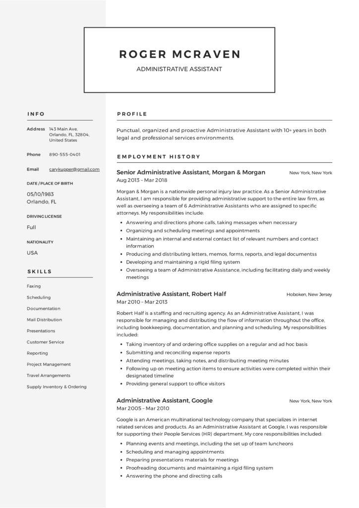 Resume Samples ResumeViking
