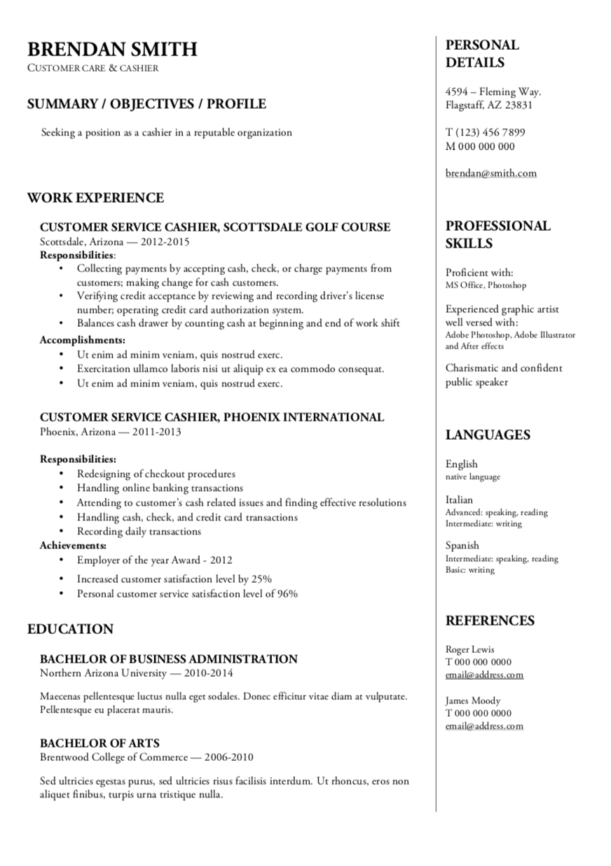 great resume templates 2018