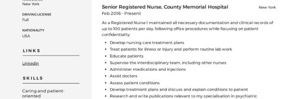 Registered Nurse Resume Sample  Writing Guide +12 Samples PDF