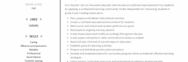 Teacher Resume  Writing Guide + 12 Samples PDF 2019