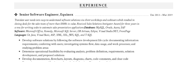 Software Engineer Resume Writing Guide + 12 Samples PDF 2019