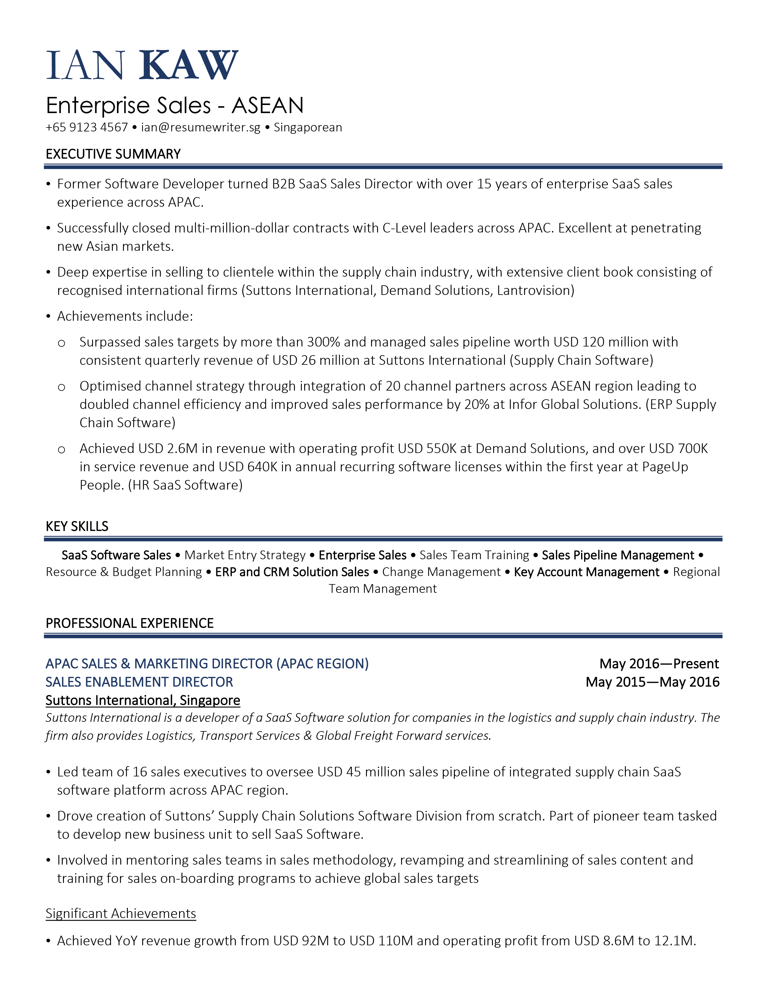 free resume template download singapore