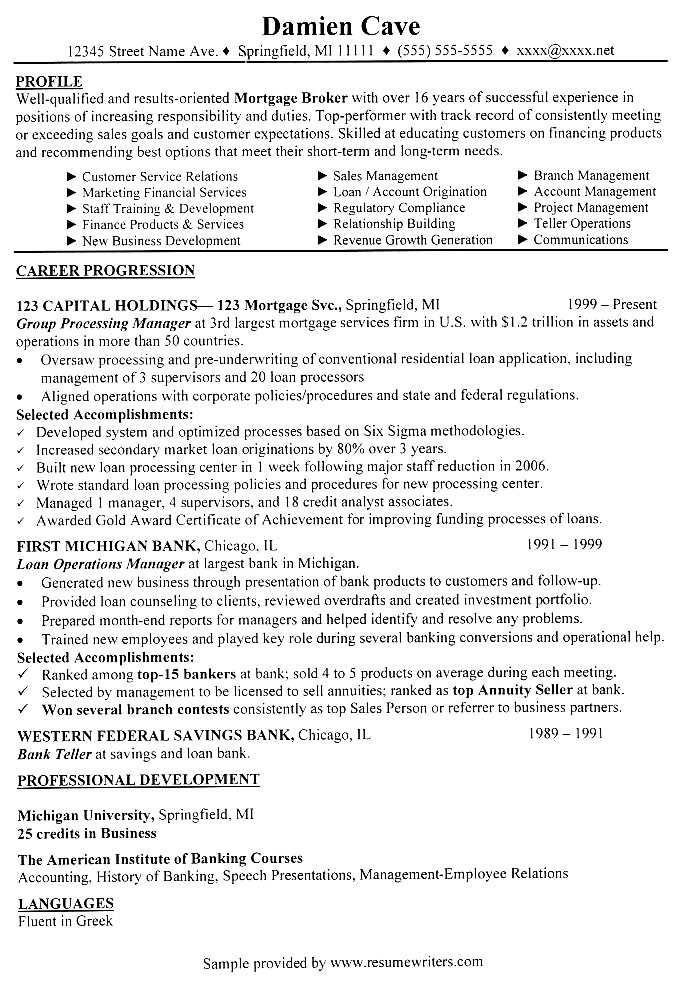 Mortgage Broker Resume, Mortgage Broker Sample Resume, Mortgage - Broker Sample Resumes