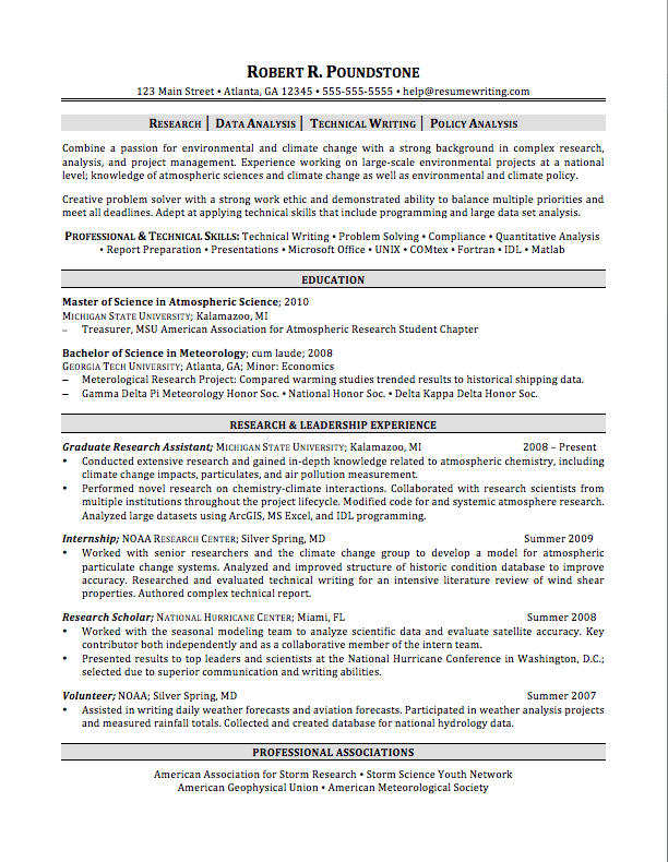 quantitative finance resume example