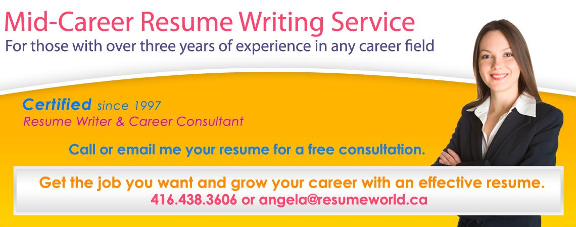 Mid-Career Resumes - Certified Resume Writer - mid career resume