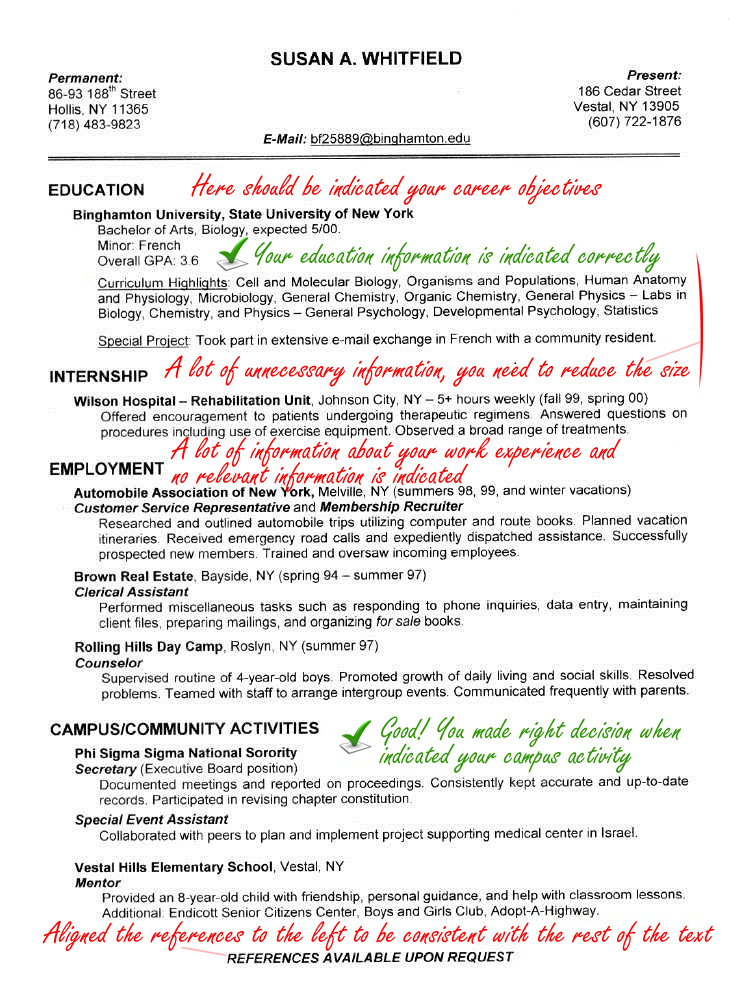 Sample Resume Of Microbiologist