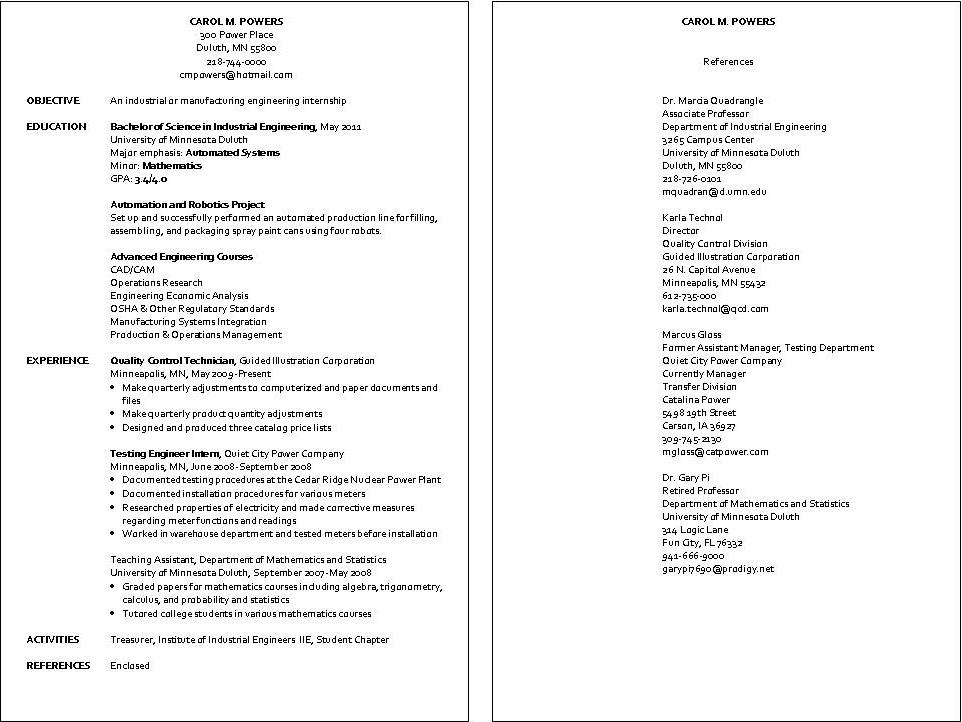 Model Resume Format For Engineers - nmdnconference - Example - Packaging Engineer Sample Resume