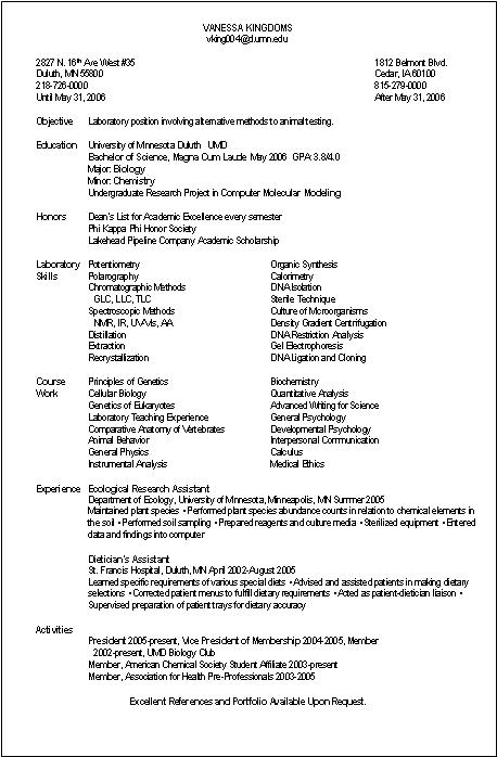 Laboratory Analyst Resume Sample - Best Skills For A Resume