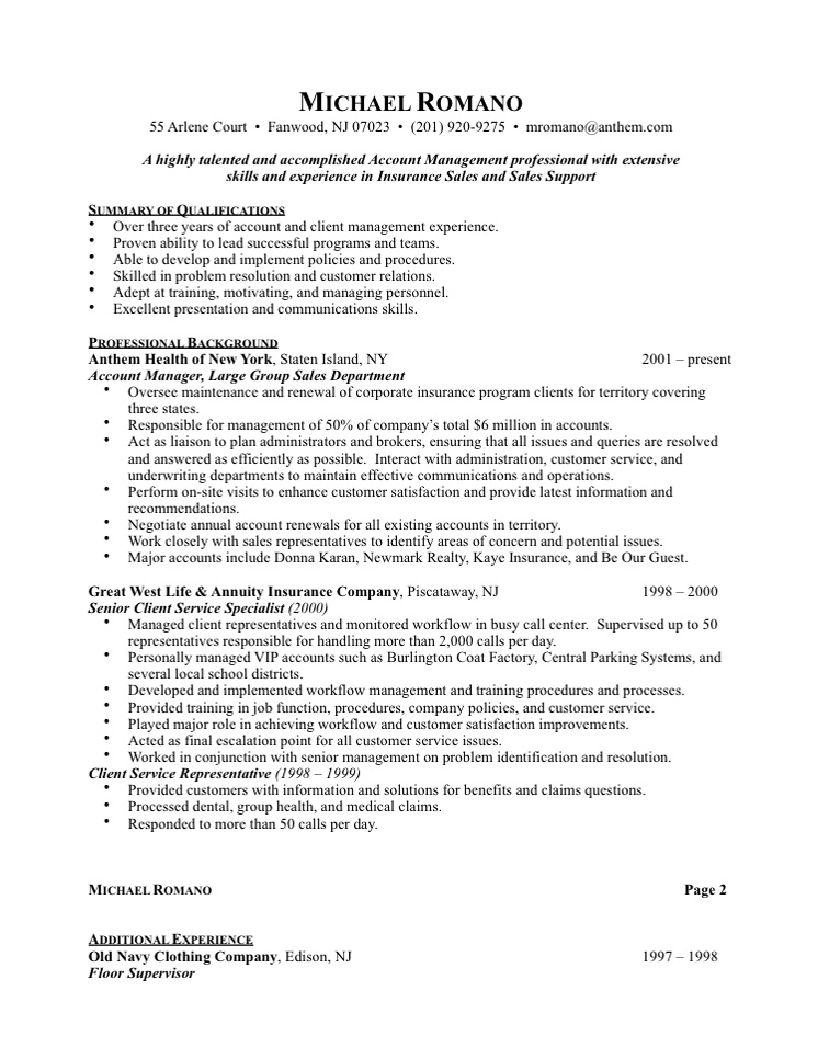 Advertising Sales Representative Resume Sample