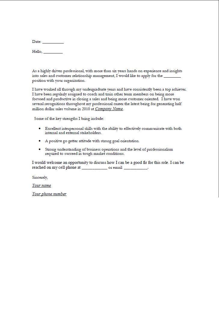 writer cover letter