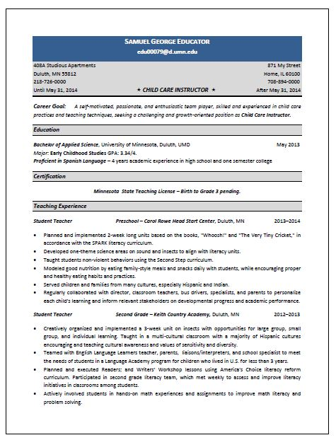 child care resume skills sample 1195 resume for childcare