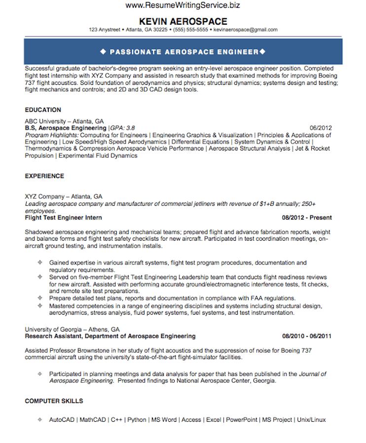 sample aeronautical engineering resume professional resumes