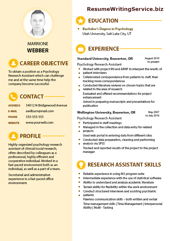 Get a Top-Quality Psychology Research Assistant Resume - Psychology Resume