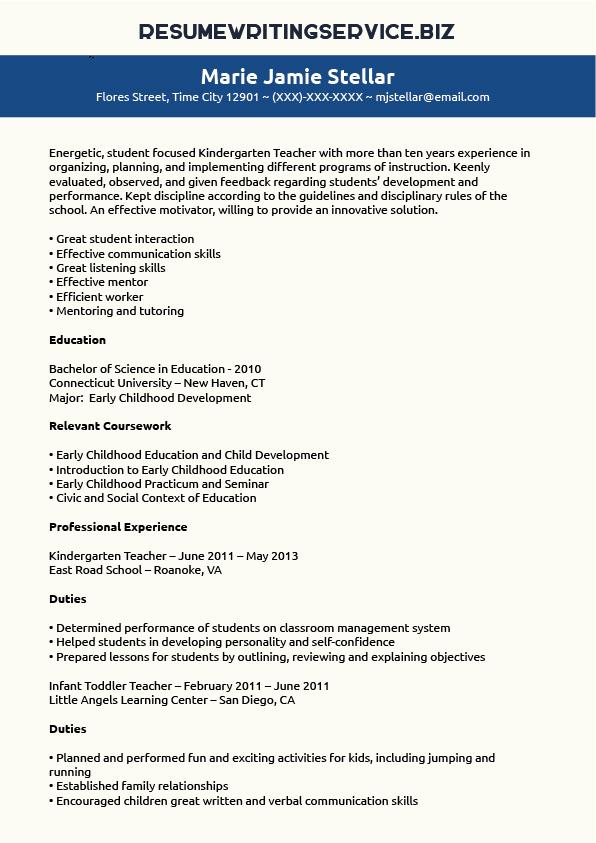 writer and writing teacher resume sample