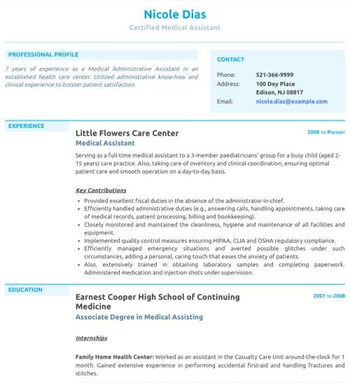 Photo Resume Templates, Professional CV Formats Resumonk