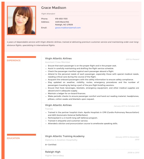 Photo Resume Templates, Professional CV Formats Resumonk - Format Cv Resume